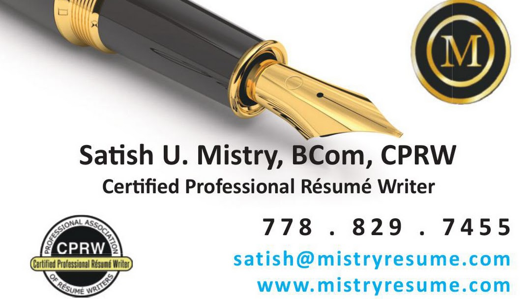 Mistry Resume Certified Professional Resume Writer