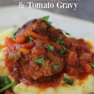 Zucchini Meatballs & Tomato Gravy
