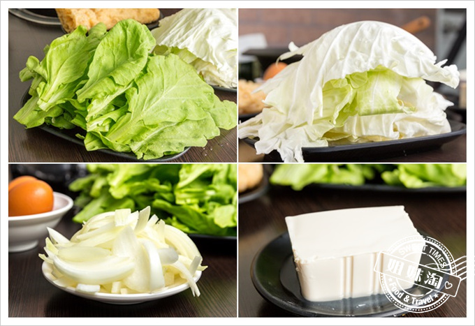 嘉義老牌石頭火鍋茼蒿高麗菜洋蔥豆腐