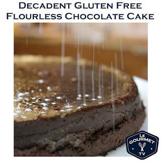 Gluten Free Flourless Chocolate Cake.