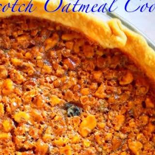 Butterscotch Oatmeal Cookie Pie.