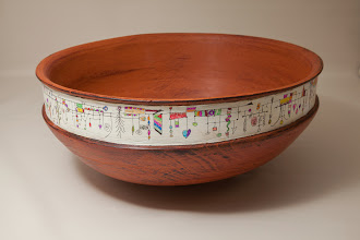 "Photo: Ed Karch 13"" x 6"" bowl [cherry]"
