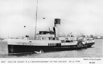 "Photo: P.S. ""Whippingham"" in the Solent 30.6.1950"