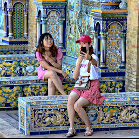 Selfie in Seville! by Francis Xavier Camilleri - City,  Street & Park  Historic Districts