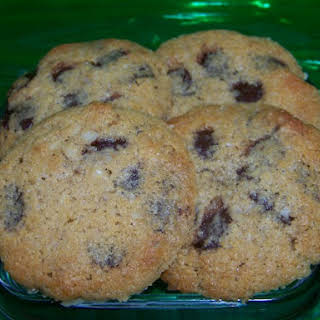 Low Carb Gluten Free Chocolate Chip Cookies.
