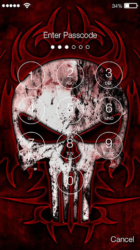 Skull Wallpaper Pattern PIN Password Lock Security APK Download