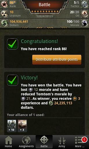 War Game - Combat Strategy Online 4.1.0 screenshots 2