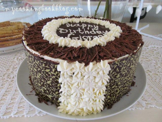 Торта черна гора (Black Forest Cake) с череши от компот
