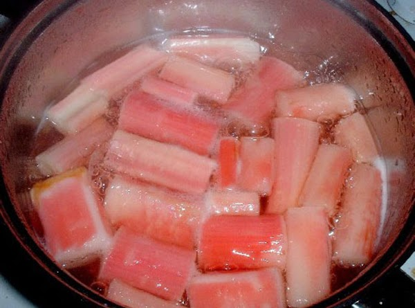 WHEN USING FRESH RHUBARB: To tenderize it just put it in a saucepan with...