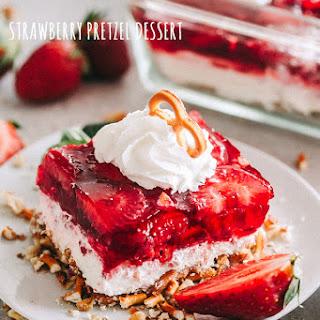 Strawberry Pretzel Dessert.