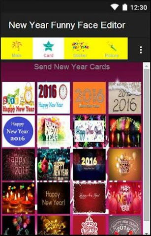 android New Year Funny Face Editor Screenshot 5
