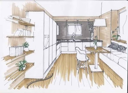 interior design drawing tutorial screenshot thumbnail - Interior Design Sketches