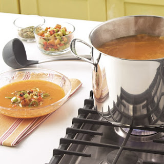 Mexican Butternut Squash Soup with Charred Vegetables