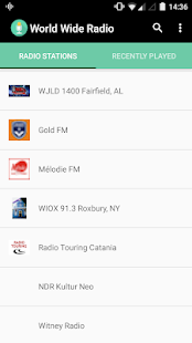 World Wide Radio Screenshot