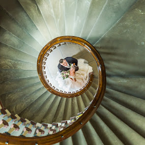 Spiraling into Love. by Chris Smith - Wedding Bride & Groom ( wedding photography, wedding photographers, weddings, wedding photographer chorley, wedding photography lancashire, wedding photographer, wedding photographer liverpool )