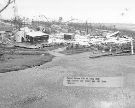 Photo: Saipan 1968 Navy Hill w/lighthouse in background Post-Typhoon damage