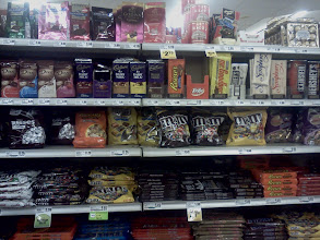 Photo: I grabbed a large Mr Goodbar and Almosd Rocha's for my husband, he loves his chocolate bars.