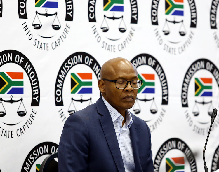 Former GCIS head Mzwanele Manyi at the state capture inquiry in Parktown, Johannesburg, on November 26 2018.