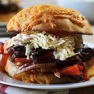 Slow Cooker Mushroom Burger