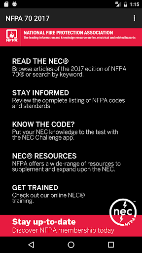 NFPA 70 2017 Edition screenshot