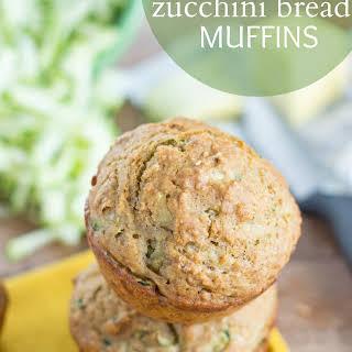 Healthy Zucchini Bread Muffins.