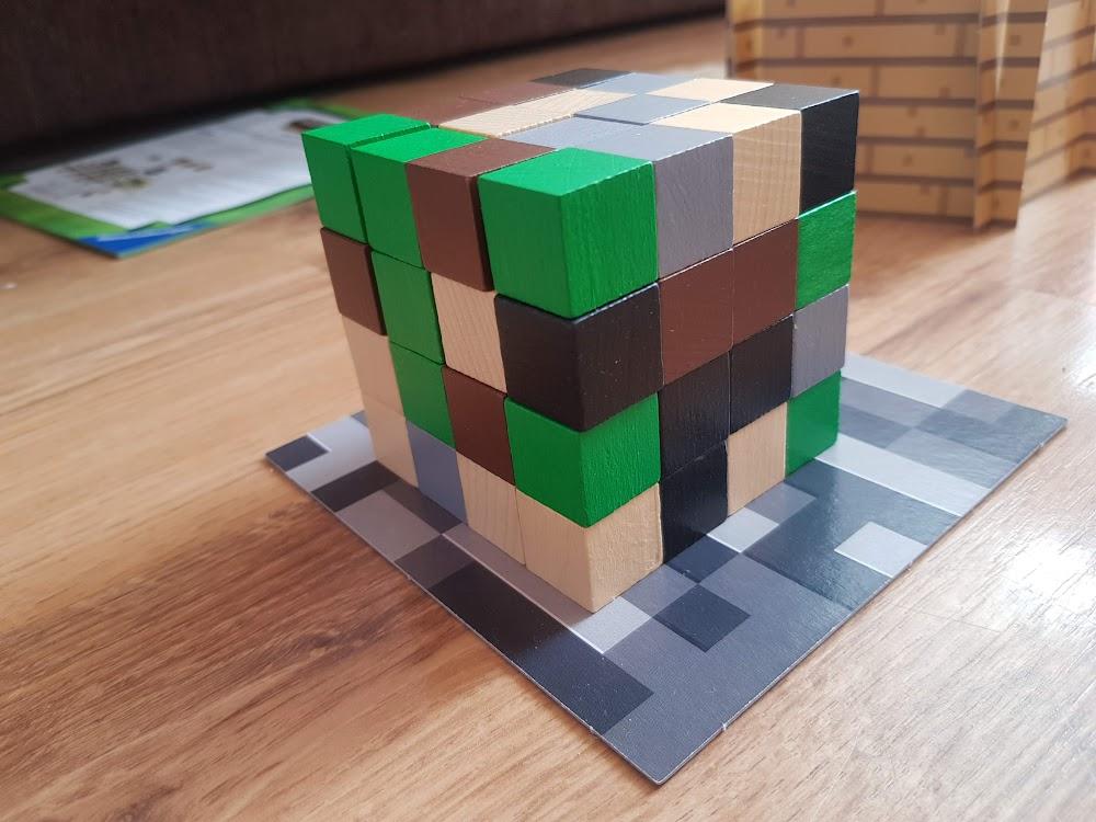 Minecraft - Blok zasobów - kostka drwniana, drewno, piasek, emerald, kamień, obsydian