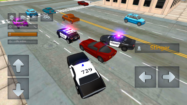 Cop Car Police Chase Driving