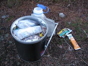 Photo: my bear box w/the dry food/no stove method
