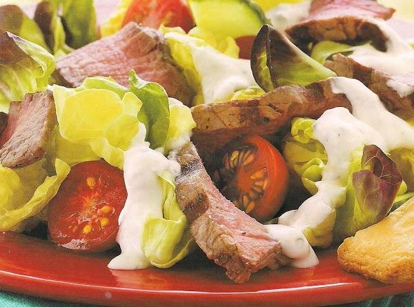 W.w.steak Salad With Creamy Horseradish Dressing Recipe