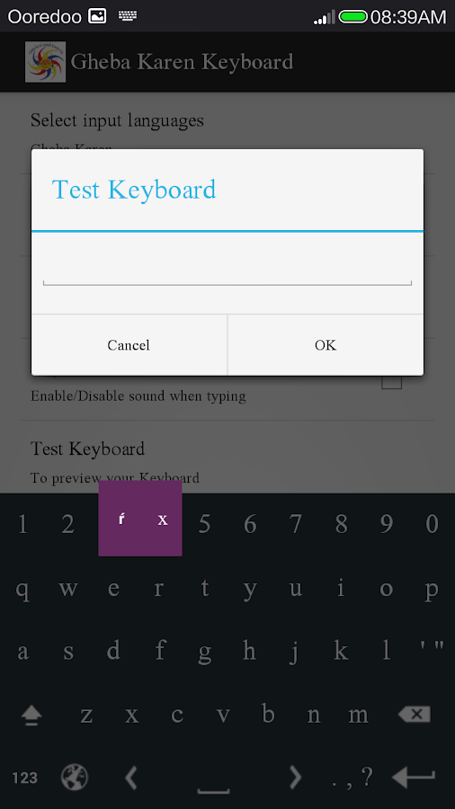 Gheba Karen Keyboard- screenshot
