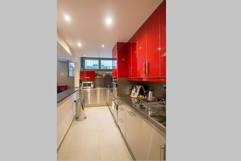 Impeccable kitchen in 5 bedroom Triplex Apartment in Ave Foch