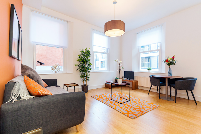 Living area at Aldgate East - Wentworth Street Apartments