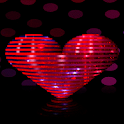 Red Heart Spin LWP icon