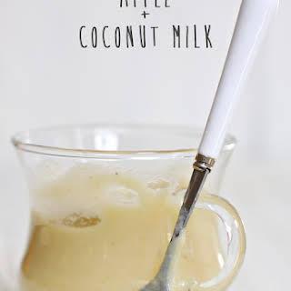 Apple + Coconut Milk Baby Food Puree.
