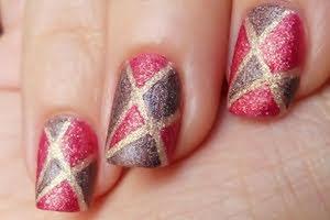 nail art soffiodidea geometrie