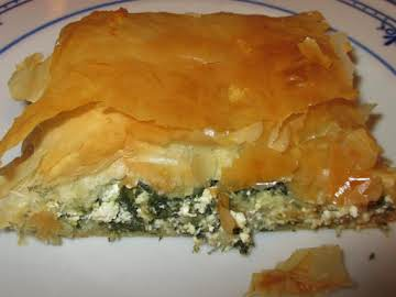 Spanakopita -- easy & lower fat than others
