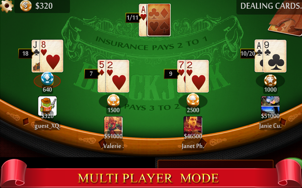 Virtual blackjack table - Blackjack Royale 21 Live Screenshot