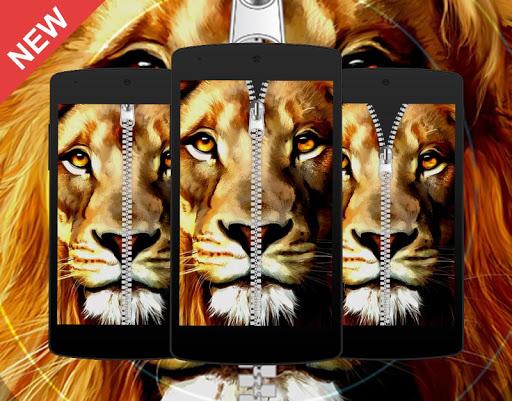 Lion Predator Zipper Locker