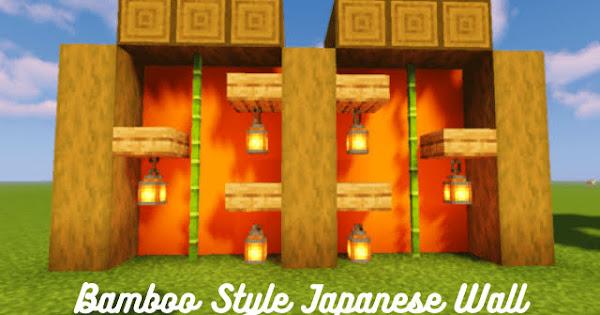 Bamboo Style Japanese Wall