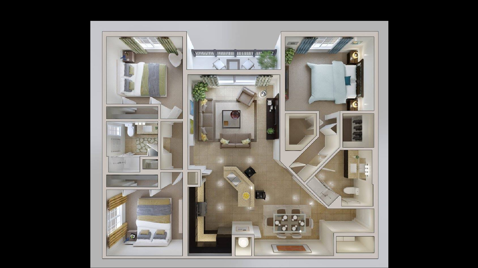 House design and layout - 3d House Design Screenshot