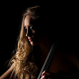 Cello mood by Niel Lombaard - People Musicians & Entertainers