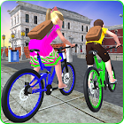 Kids School Time Bicycle Race icon