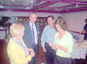 Photo: Ruth Swanto, Joe Johnson, Joe Alemany, and Valeria Moura Venturella - after the meeting on April 15, 2008
