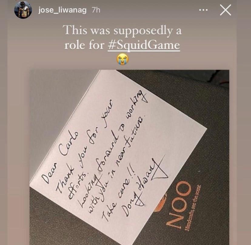 Carlo Aquino Squid Game