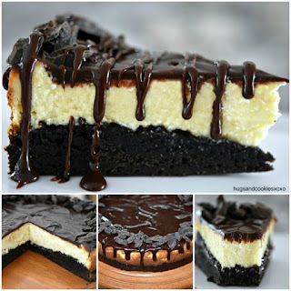 Hot Fudge Brownie Cheesecake.