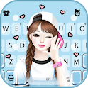 Lovely Sweet Girl Wallpapers Keyboard Background icon