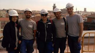 Alumnos de la Escuela del Mármol contratados para la restauración de edificios históricos de Madrid.
