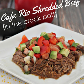 Cafe Rio Copycat Shredded Beef Recipe (in the Crock Pot!)
