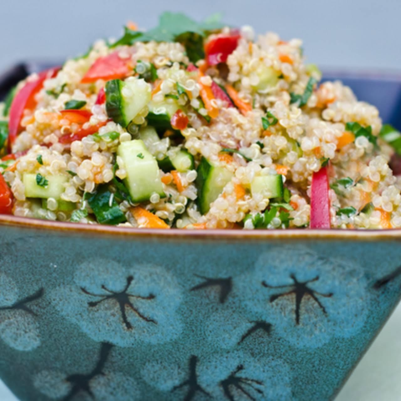 Thai Quinoa Salad  later than  vivacious Herbs and Lime Vinaigrette