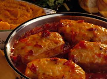 Cranberry-onion chops